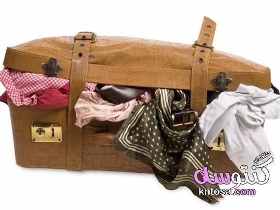 بالصور الطريقة الصحيحة لترتيب شنطة السفر,طريقة تحضير شنطة السفر للعطلة,مستلزمات حقيبة السفر kntosa.com_01_19_155