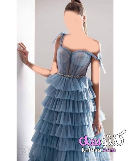 puffy ruffle dresses،فساتين المنفوشة بشكل كرانيش، فساتين المناسبات بشكل جديد 2021 kntosa.com_01_20_160