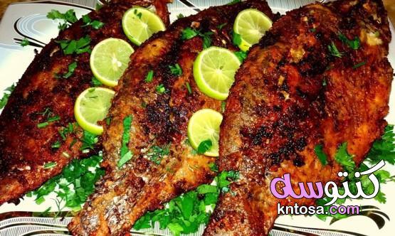 طريقة عمل السمك المشوي بالفرن بخلطة سحرية عجيبة في المنزل kntosa.com_01_21_161