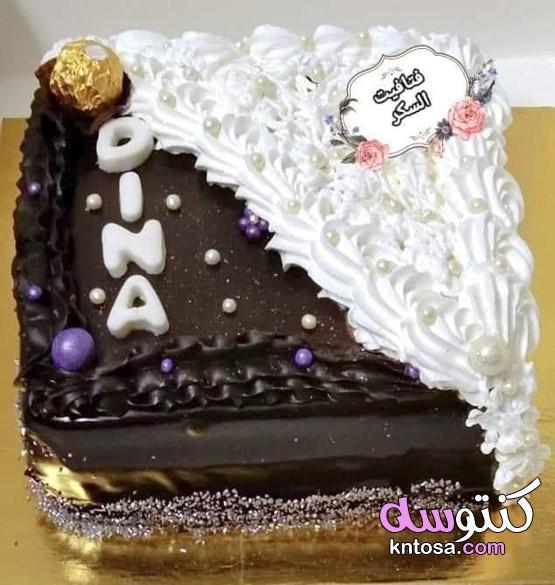 اشكال تورتة الشيكولاتة بالصور،احدث تورتة عيد ميلاد 2021 kntosa.com_03_21_161