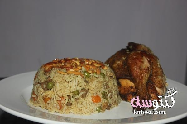 اكلات الدجاج مع الارز بالصو.رز بالدجاج لذيذ.طبخات رز بالدجاج.طريقة عمل الدجاج المحمر مثل المطاعم2018 kntosa.com_05_18_153