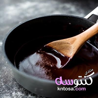 طريقه عمل جاناش الشوكولاته الأحمر بالصور 2019,كيفية تحضير جاناش الشوكولاته الأحمر بالصور kntosa.com_05_19_155
