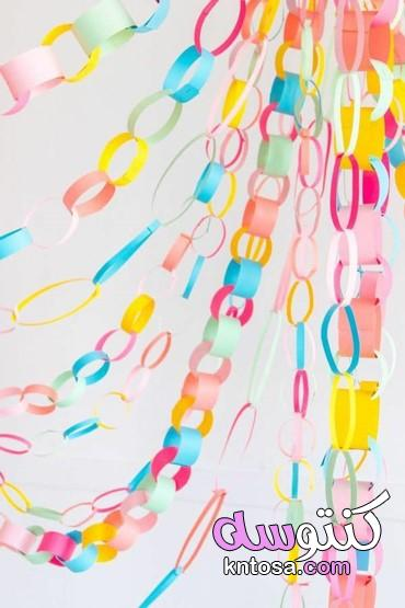 افكار متنوعة بالورق الملون لتزيين الغرف،تزيين الغرفة باشياء بسيطة 2021 kntosa.com_05_21_160