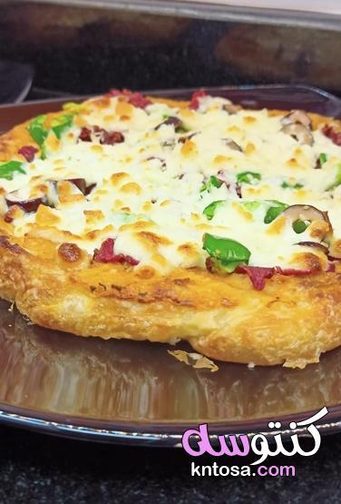 طريقة عمل بيتزا الفطير المشلتت،فطائر ومعجنات ، البيتزا الشرقى ، فطير الفطاطرى الحادق منتدى كنتوسه kntosa.com_05_21_162