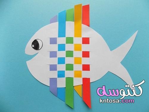 السمك من شرائط من الورق: نسج زين ملون بيديك للأطفال kntosa.com_05_21_162