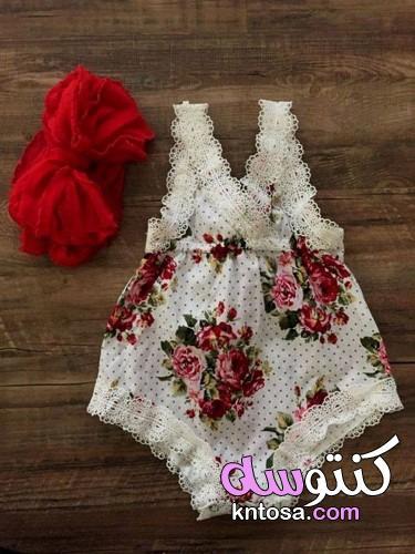 ملابس بيبي بناتي صيفي,فساتين اطفال 2020 kntosa.com_06_19_156
