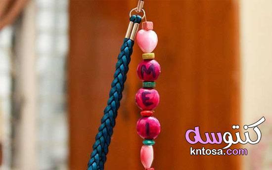 اشغال يدوية بالخرز مع الطريقة , ميداليات مفاتيح بالخطوات kntosa.com_06_19_156
