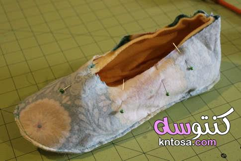 كيفية صنع حذاء للمنزل،كيفية صنع الاحذية النسائية،كيفية صنع حذاء في المنزل،طريقة صناعة الاحذية يدويا kntosa.com_06_20_157