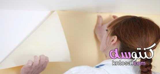 طريقة لصق ورق الحائط بنفسك لتجديد منزلك kntosa.com_06_21_162
