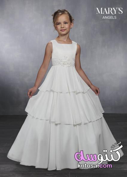 44bac797e0af4 أجمل فساتين زفاف للأطفال حصرى 2019