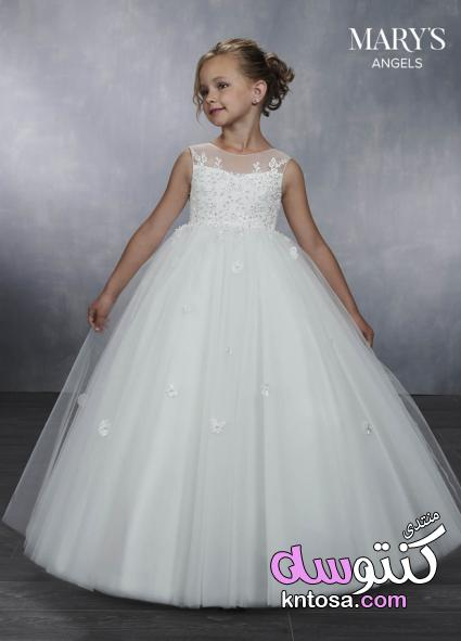 9923bb7a93ae9 أجمل فساتين زفاف للأطفال حصرى 2019