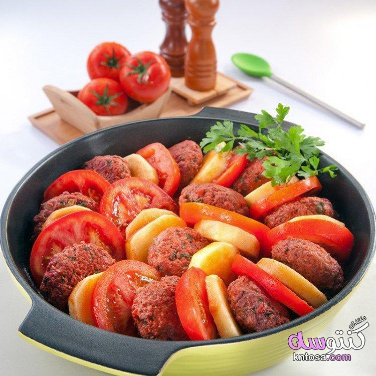 صينيّة الكفتة مع البطاطس والبندورة kntosa.com_07_19_154