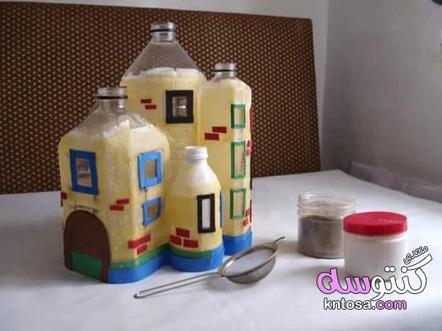 عمل منزل لطيف من الزجاجات البلاستيكية الفارغة,استغلال الزجاجات الفارغه والاعمال المنزليه بالصور kntosa.com_07_19_154