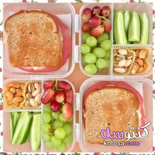 طريقة عمل lunch box , اشكال لانش باج للاطفال , افكار لوجبات الاطفال في الروضه kntosa.com_07_19_156