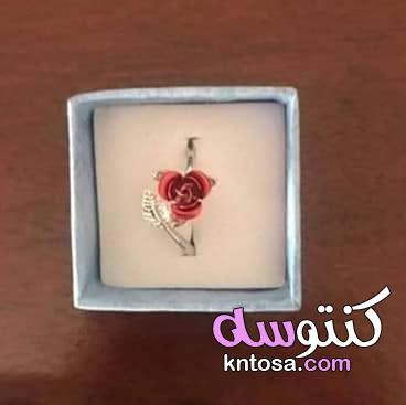 اكسسورات قلادة الوردة , سلسلة الوردة الحمراء ثلاثية الابعاد kntosa.com_07_19_156