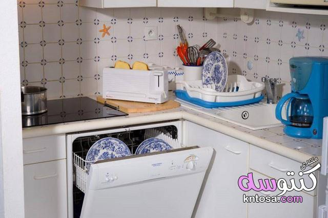 مطابخ مودن باللون الازرق2019,مطابخ الوميتال ازرق فى رصاصى,مطابخ باللون الازرق والفضي,مطابخ الوميتال kntosa.com_08_19_154