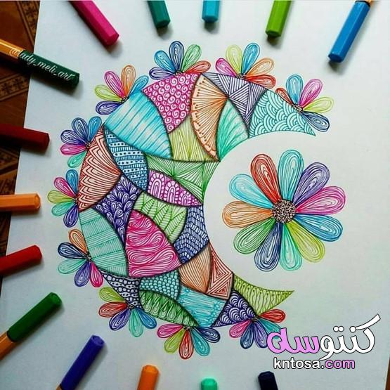 فن الخربشات,خربشات فنية طريفة ورائعة على كراسات الدراسة,رسم خربشات بقلم الحبر بالتصوير السريع kntosa.com_08_19_157