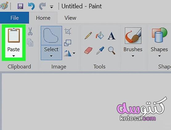 كيفية جعل الخلفية شفافة في برنامج الرسام kntosa.com_08_19_157