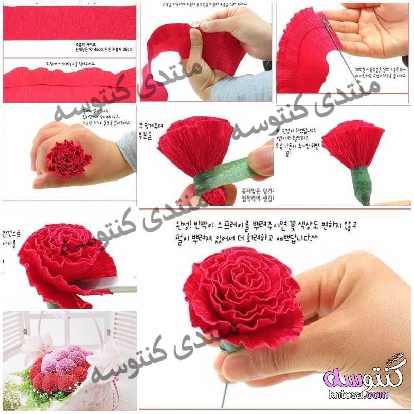 c9ef6901089c0 كيف تصنع وردة من الورق تحفة