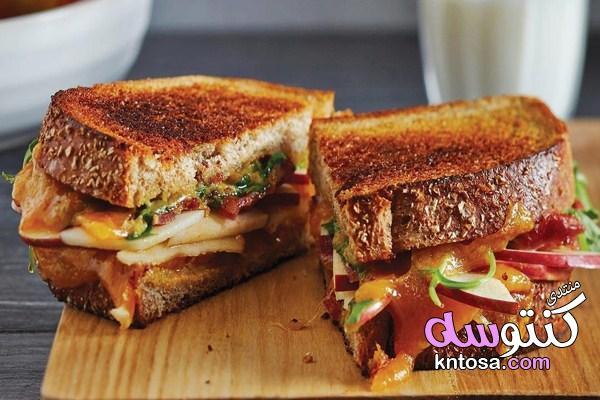 طريقه تحضير ساندويتش الجبن الشيدر بالتفاح لسحور شهى kntosa.com_09_19_155