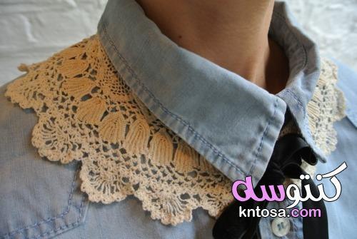 الدانتيل الكروشيه للملابس,بوتيك الكروشيه روعه,بالصور الياقة الدانتيل kntosa.com_09_19_156