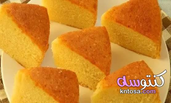 طريقة عمل الكيكة العادية والإسفنجية الكيكة السادة الكيكة العادية الكيكة الهشة 2020 kntosa.com_09_19_157