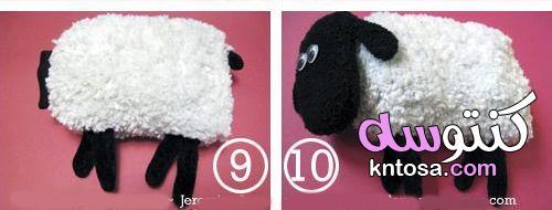 بالصور طريقة عمل خروف العيد بالصوف, طريقة عمل خروف العيد للاطفال بالقطن kntosa.com_10_19_156