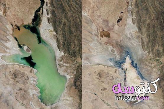 لماذا تنكمش بحيرات العالم , بحيرات بدأت في الجفاف kntosa.com_10_19_156
