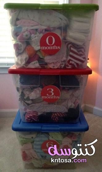 طريقتي في تنظيم و ترتيب خزانة ملابس الاطفال بأفكار بسيطة،أفكار عملية لترتيب حاجيات طفلك الرضيع kntosa.com_10_20_157