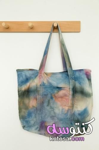 حقيبة حمل DIY Ice Dye - أليس ولويس ،حقيبة شاطئ صبغ الجليد