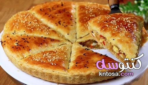 طريقة عمل فطيرة للعشاء بكل سهولة وبحشوة مميزة وصحية وشهية جداً kntosa.com_10_21_162