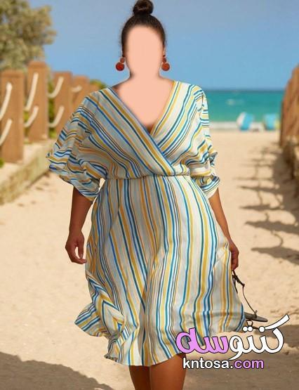 ملابس محجبات للجسم الممتلئ،فساتين للجسم المليان من تحت،دريسات للجسم المليان،ملابس للجسم الممتلئ kntosa.com_11_20_160