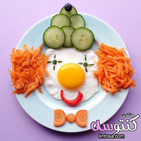 طرق لتقديم الطعام للأطفال تزيين أطباق.افكار غذاء صحي للاطفال.اكلات للاطفال بالصور.فن تزين الطعام صور kntosa.com_12_18_153