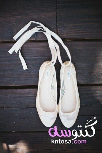 احذية عرايس فلات,احذية عرايس بيضاء,احذية عرايس فخمة,جزم افراح للعرايس,جزم افراح بدون كعب kntosa.com_12_19_155