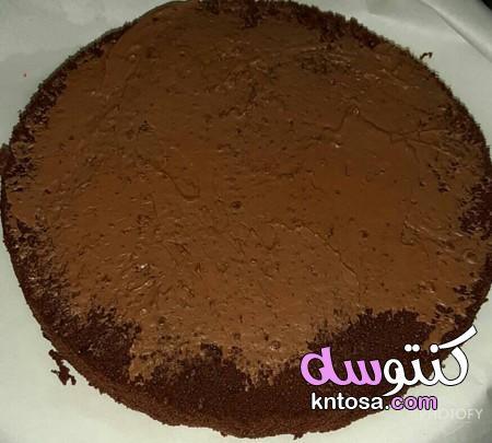 طرق تزيين التورتة بالشوكولاتة،تورته الشيكولاتة الفاخرة مزينه بورد من عجينه الشيكولاته