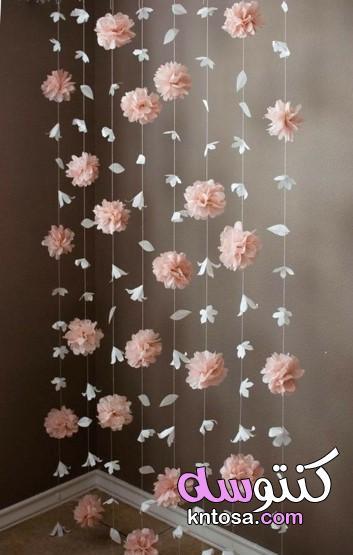 طريقة عمل زينة للحائط،طرق تزيين الجدران بالورق الملون،عمل ديكور من الورق الملون لتزيين الحائط 2020 kntosa.com_12_20_158