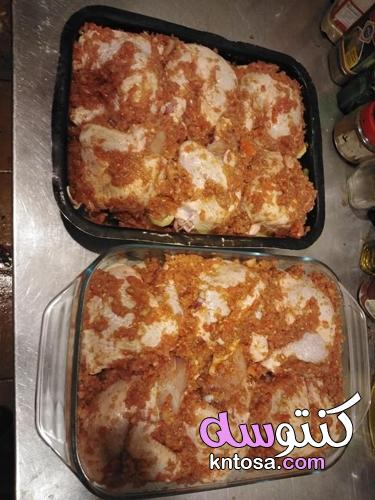 صينية بطاطس بالفراخ بالفرن على الطريقة المصرية kntosa.com_12_21_163