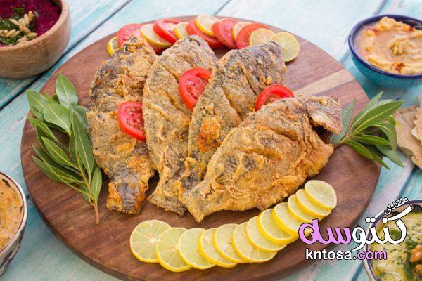طريقة عمل رز السمك المقلى,طريقة عمل رز السمك زى المطاعم,سمك مقلى او بانيه مع رز سمك وسلطه kntosa.com_13_19_155