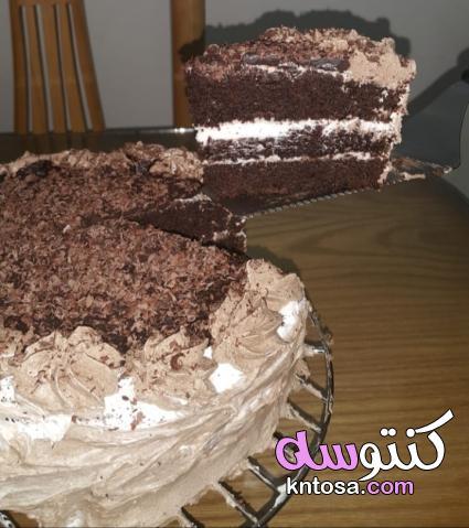 احلى تورته دى ولا ايه,طريقىة عمل تورتة الخلاط,تورتة الشوكولاته kntosa.com_13_19_156