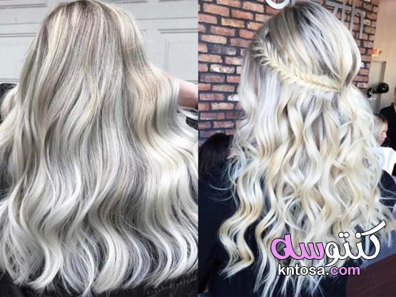 إليك موضة صبغات الشعر خريف وشتاء 2020 الأكثر رواجًا،Platinum blonde بتدرجات الوانه