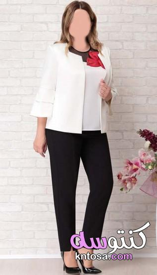 ملابس مقاسات كبيرة نسائية 2020،مجموعة من ملابس النساء ذات الأحجام الكبيرة2020 kntosa.com_14_20_157