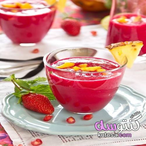 كوكتيل الرمان والاناناس والتوت , كيفية تحضير مشروب الرمان والاناناس والتوت kntosa.com_15_19_155