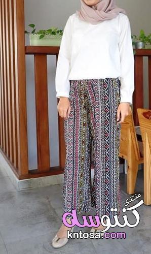بناطيل واسعة قماش, بناطيل واسعه انستقرام,بناطيل قماش واسعه للبنات, اشكال بنطلونات قماش واسعه kntosa.com_15_19_155