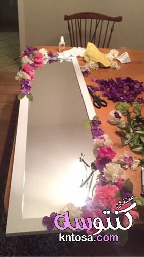 تزيين البيت بالورد المجفف,تزين مراة بالورد الاصطناعيdiyi,تزيين المرايا بالورد,طريقة عمل اطار للمرايا kntosa.com_15_19_155