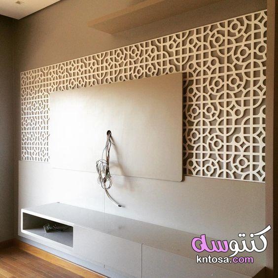 مكان التلفزيون في الصالة، أفكار لتعليق التلفزيون في الجدار، تصميم رفوف تلفزيون kntosa.com_15_20_158