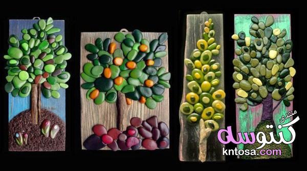 أفكار رائعة لاستخدام الحصى والزلط في أعمال فنية,افكار فنية من الزلط والاحجار باستخدام الوان kntosa.com_16_19_155