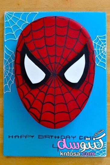 زينة حفلات أعياد الميلاد سبايدرمان,spider man cake,تورتة عيد ميلاد سبايدر مان,ديكورات اعياد ميلاد kntosa.com_16_19_155