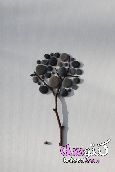 اعمال يدوية بالحصى,لوح فنية بـ استخدام الزلط,زلط ديكور,فن الحصى,لوحات من الزلط kntosa.com_16_19_156
