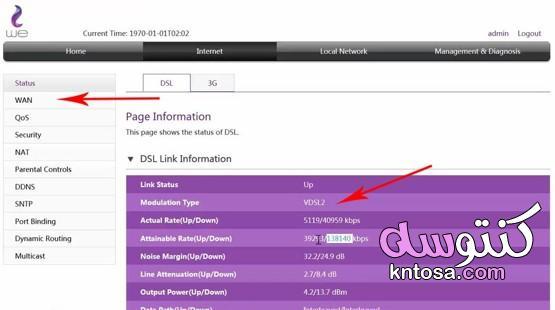 """طريقة تحديد سرعة النت من الراوتر """" we """" الجديد كلياً kntosa.com_16_21_161"""