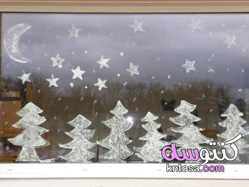 وصفة خاصة لطلاء نافذة عيد الميلاد